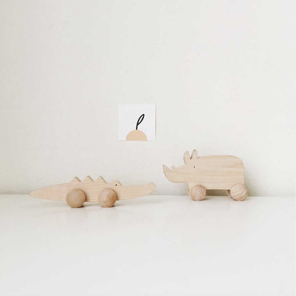 Tangerine Studios Toy Beech Wood Roller Toy - Crocodile