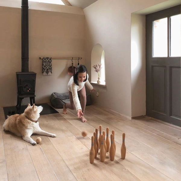 Wooden Story Bowling Set Natural