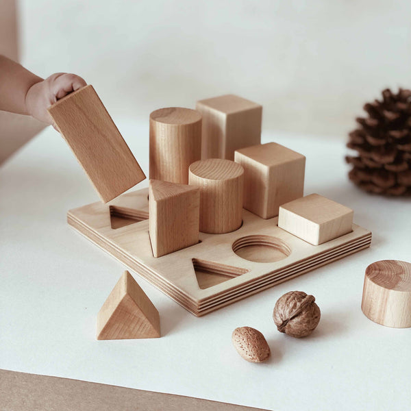wooden story Shape Sorter Board XL natural