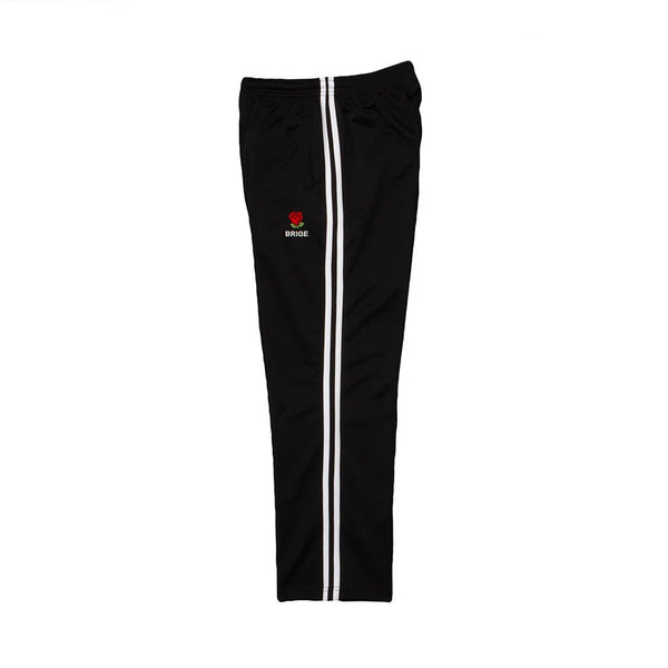Rose Logo 2 Line Jersey Pants - BLACK