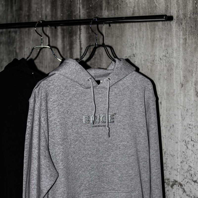 BRIGE Logo Sweat Pullover Hoodie - Gray x Reflector