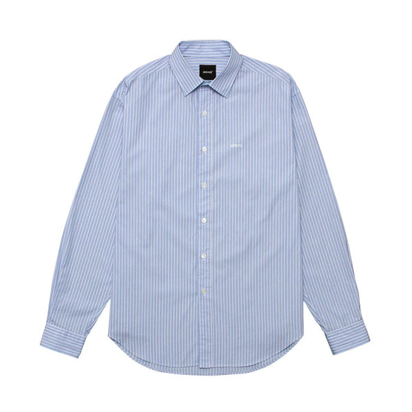 Over Size Shirt - Light Blue Stripe