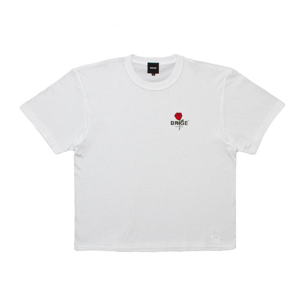 Rose logo Over Size Tee - White