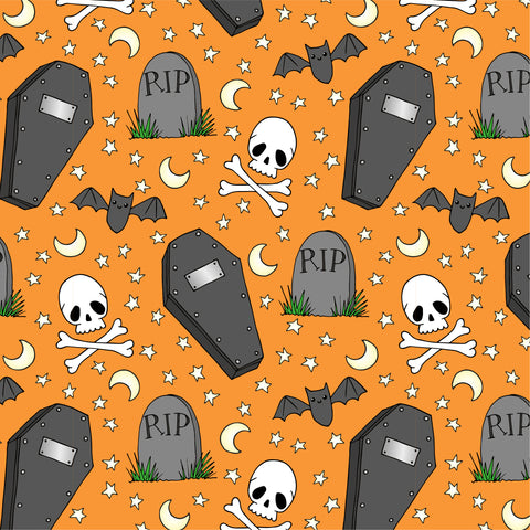 Halloween repeat pattern by Lucie Cooke Studio