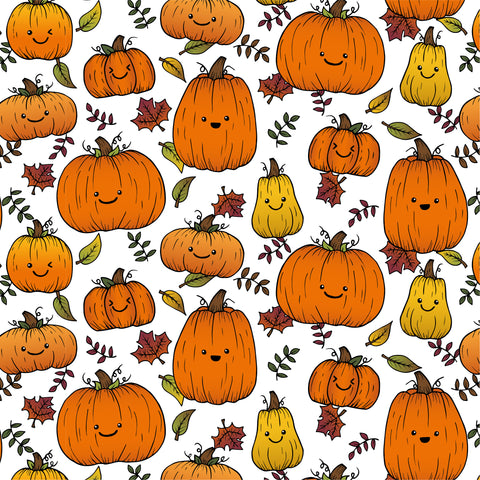 Pumpkins repeat pattern by Lucie Cooke Studio