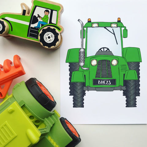 That's my tractor - Personalised Print by Lucie Cooke Studio