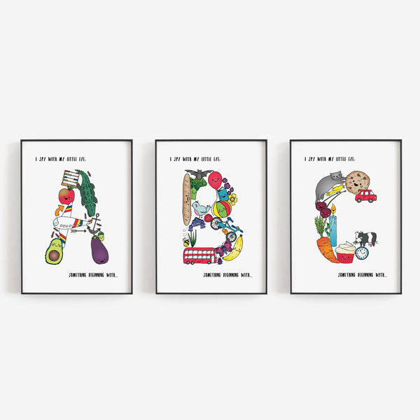 'I spy....' Letter A print by Lucie Cooke Studio