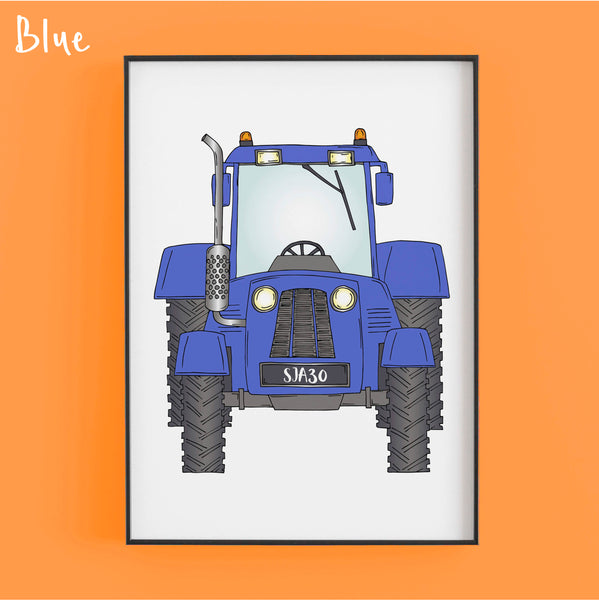 That's my tractor in blue - Personalised Print by Lucie Cooke Studio