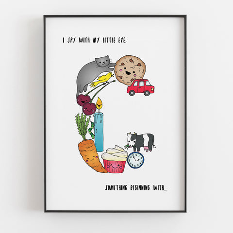 'I spy....' Letter C print by Lucie Cooke Studio