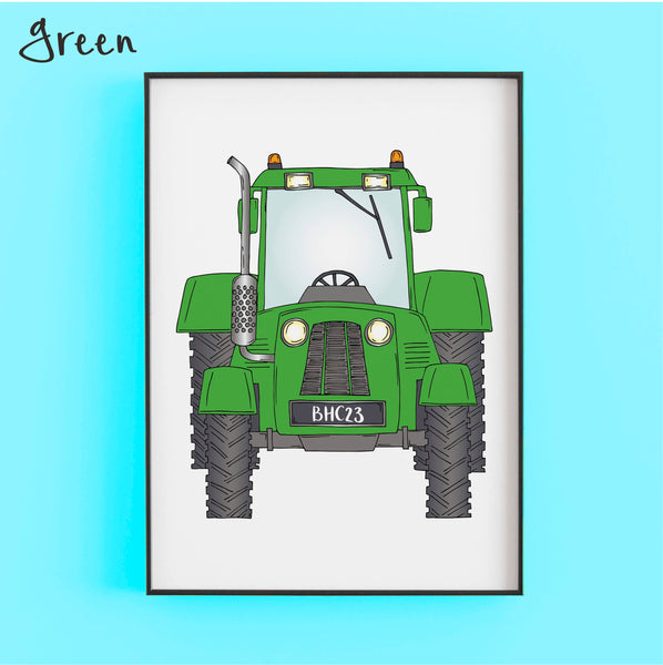 That's my tractor in green - Personalised Print by Lucie Cooke Studio
