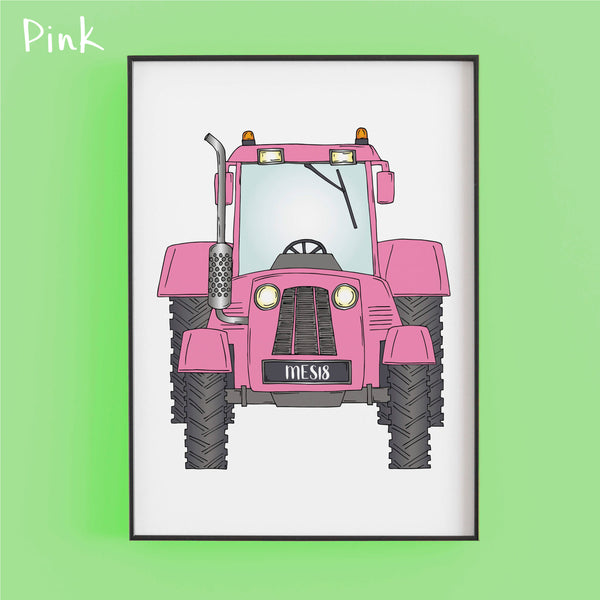 That's my tractor in pink- Personalised Print by Lucie Cooke Studio