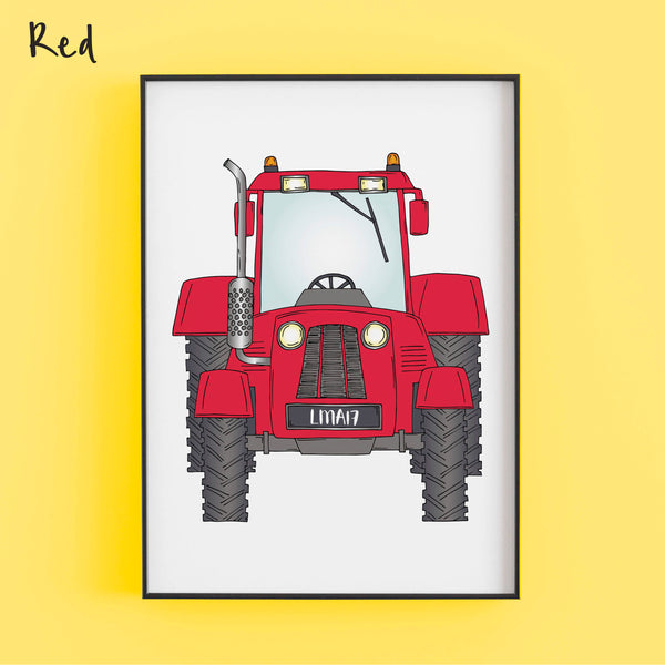 That's my tractor in red - Personalised Print by Lucie Cooke Studio