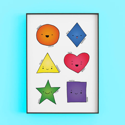 Shapes and colours print by Lucie Cooke studio