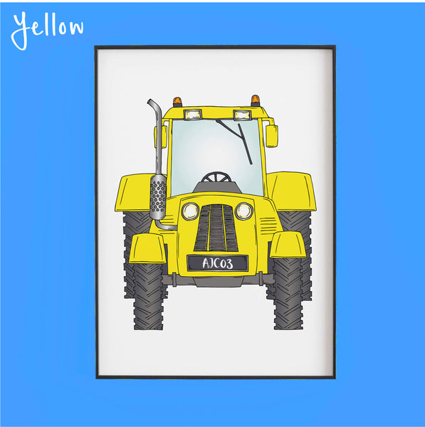 That's my tractor in yellow - Personalised Print by Lucie Cooke Studio