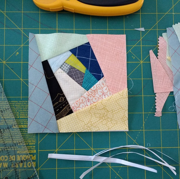 Wonky Log Cabin Paper Piecing Pattern