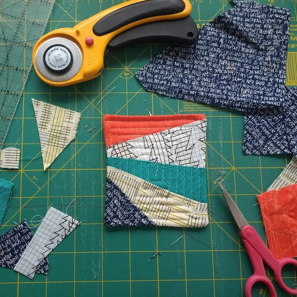 Burst Coaster - Paper Piecing Pattern & Project Tutorial