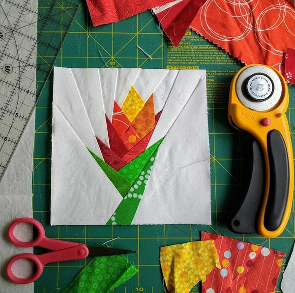 Bromeliad Paper Piecing Pattern