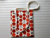 Honey Bees + Clover Tote Bag