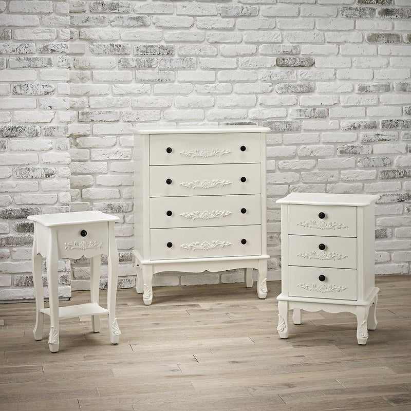 Antoinette 4 Drawer Chest White