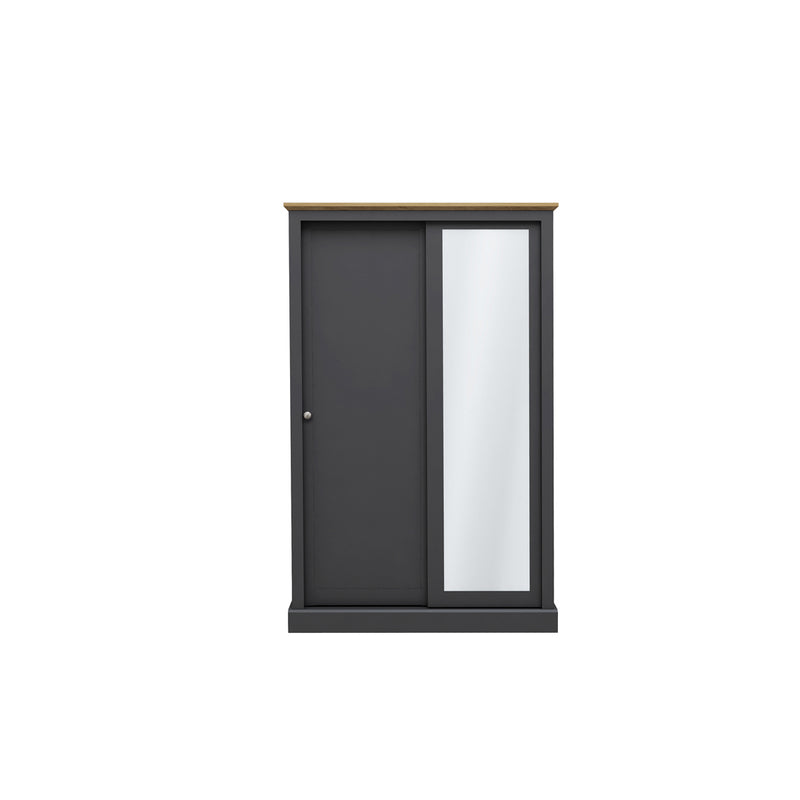 Devon 2 Door Sliding Wardrobe Charcoal