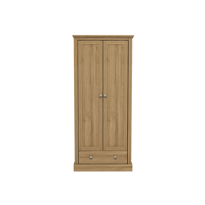 Devon 2 Door Wardrobe Oak