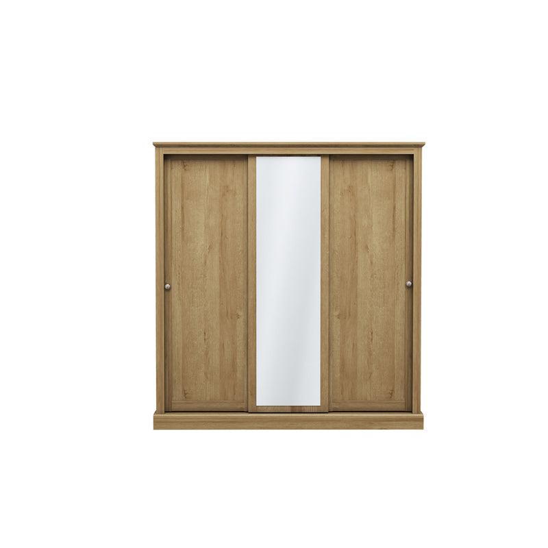 Devon 3 Door Sliding Wardrobe Oak