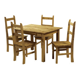 Ecuador Dining Set Waxed Mexican Pine