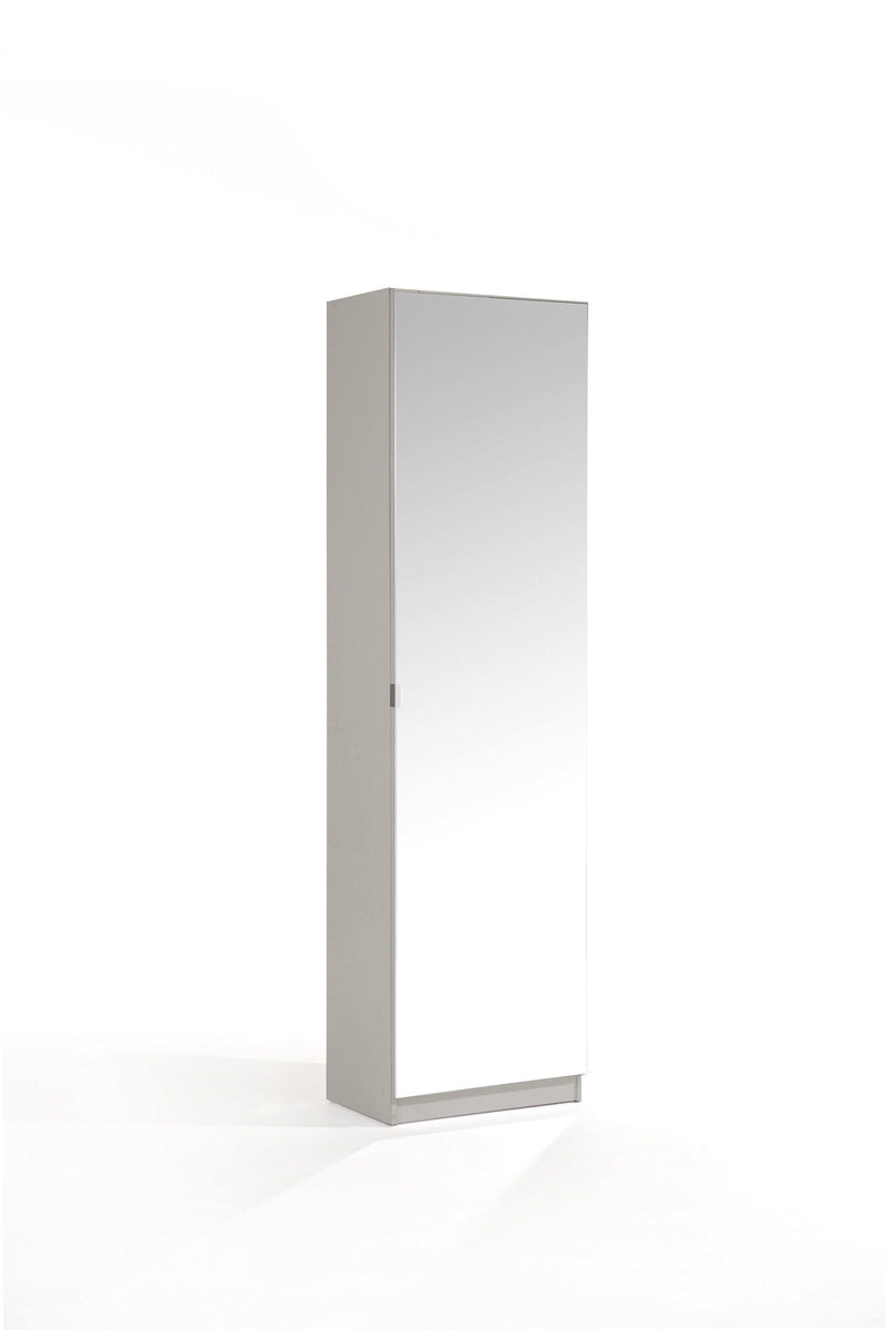 180cm Mirrored Shoe Cabinet - Bankrupt Beds