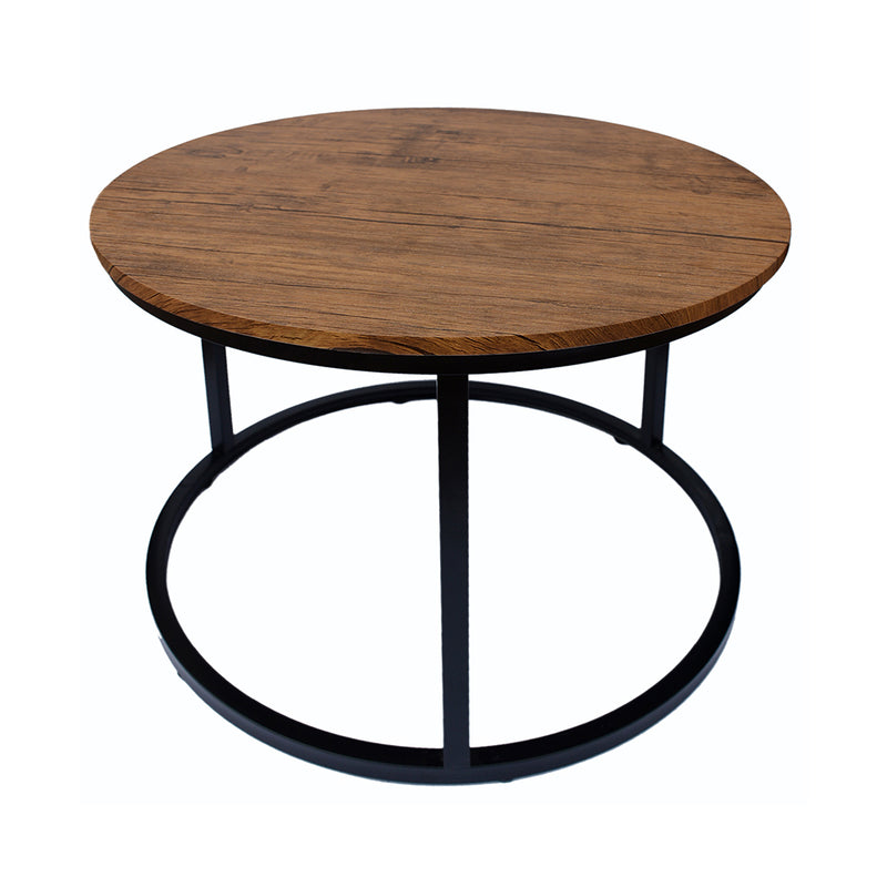 Java Coffee Table Black Frame-Distressed Tops