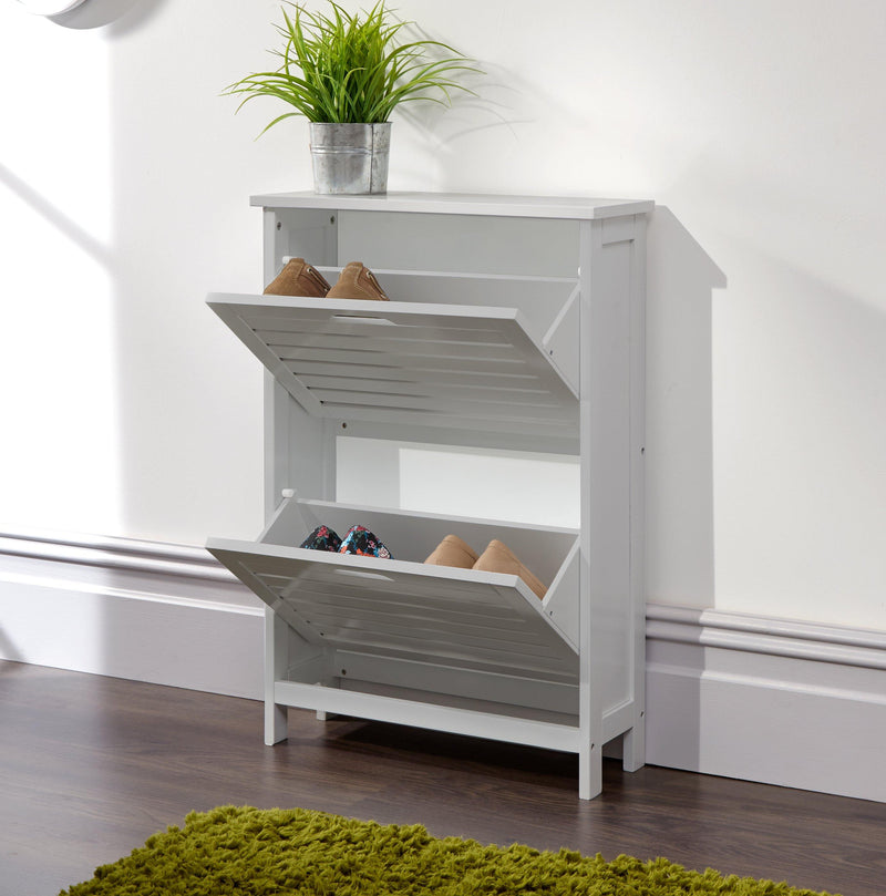 Bergen Two Tier Shoe Cabinet - Bankrupt Beds