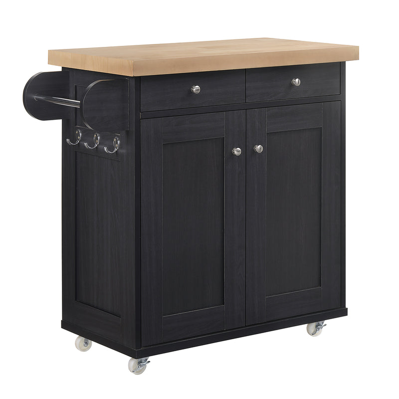 Portland Kitchen Island Black