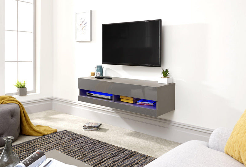 Galicia 120cm Wall TV Unit with LED - Bankrupt Beds