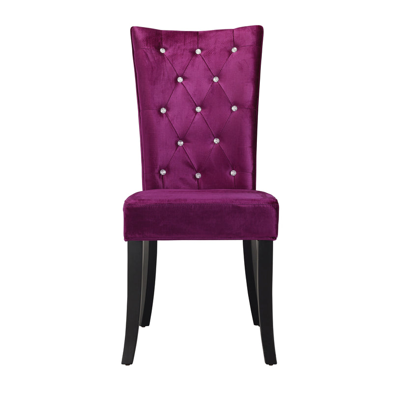 Radiance Dining Chair Purple Velvet (Pack of 2)