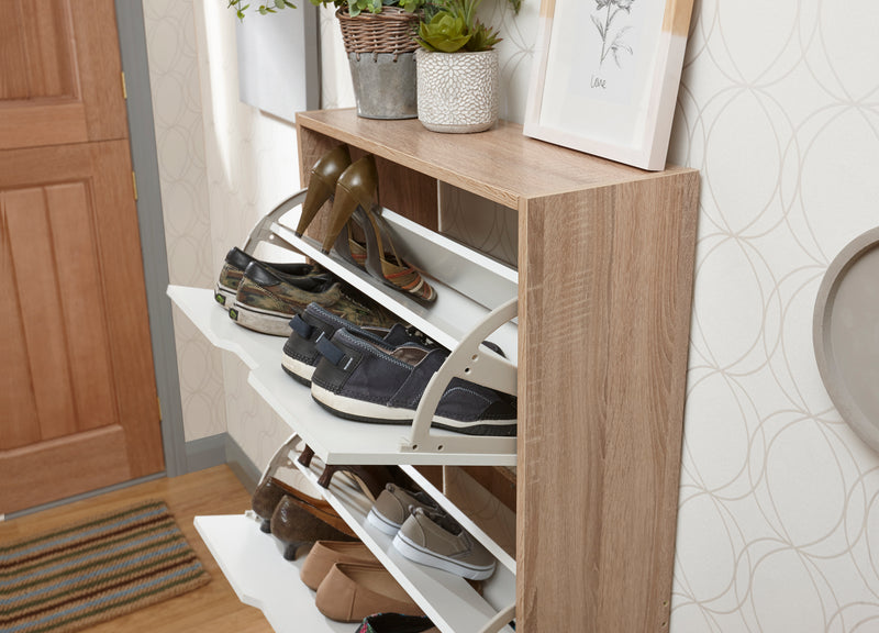 Stockholm Two Tier Shoe Cabinet