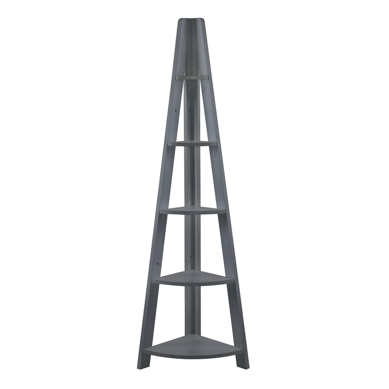 Tiva Corner Ladder Shelving Black