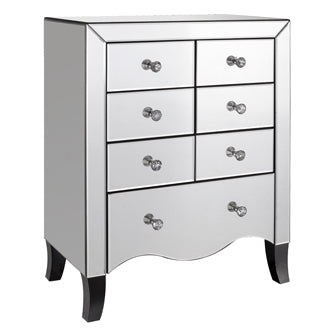 Valentina 7 Drawer Mirrored Chest