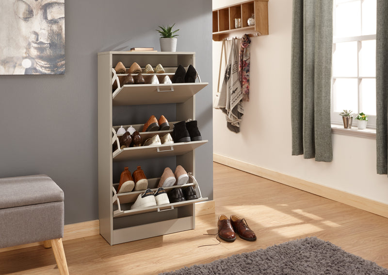 Stirling Three Tier Shoe Cabinet