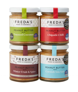 Freda's Peanut Butter Bundle - 4 x 180g jars (Seasalt, Coconut, Chilli & Winter Fruit)