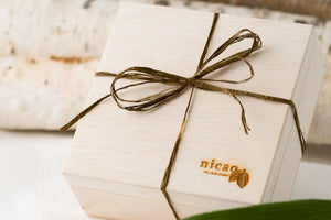 nicao bean-to-bark chocolate gift box close up