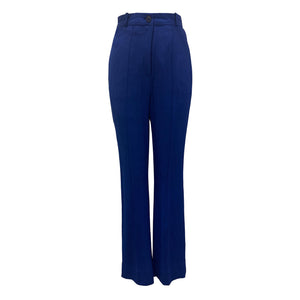Electric Blue Pin Tuck Pants