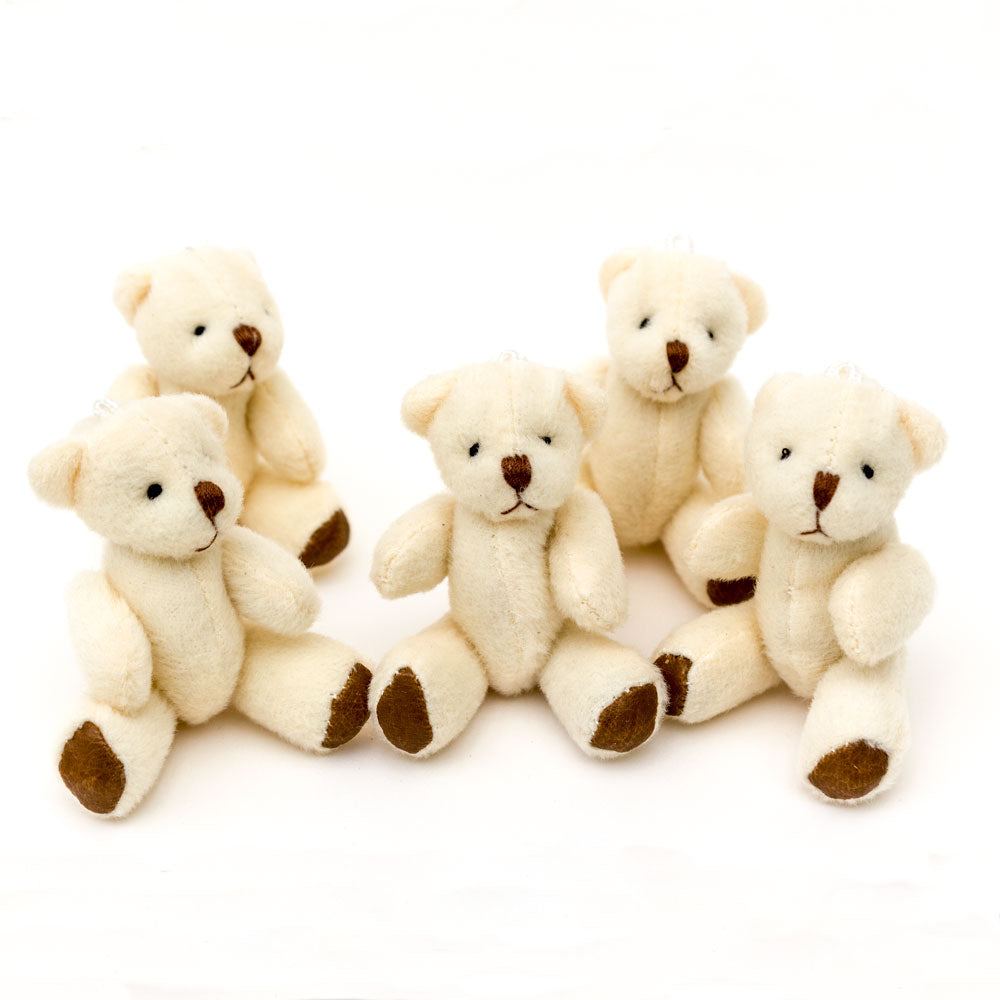 Small WHITE Teddy Bears X 60 - Cute Soft Adorable