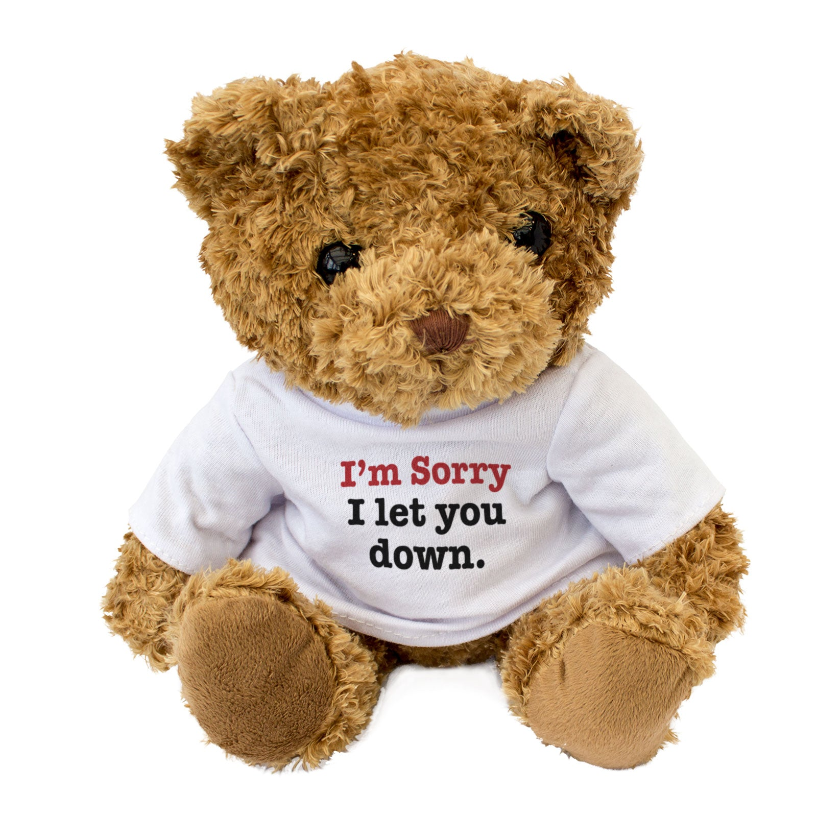I'm Sorry I Let You Down Teddy Bear Apology Gift