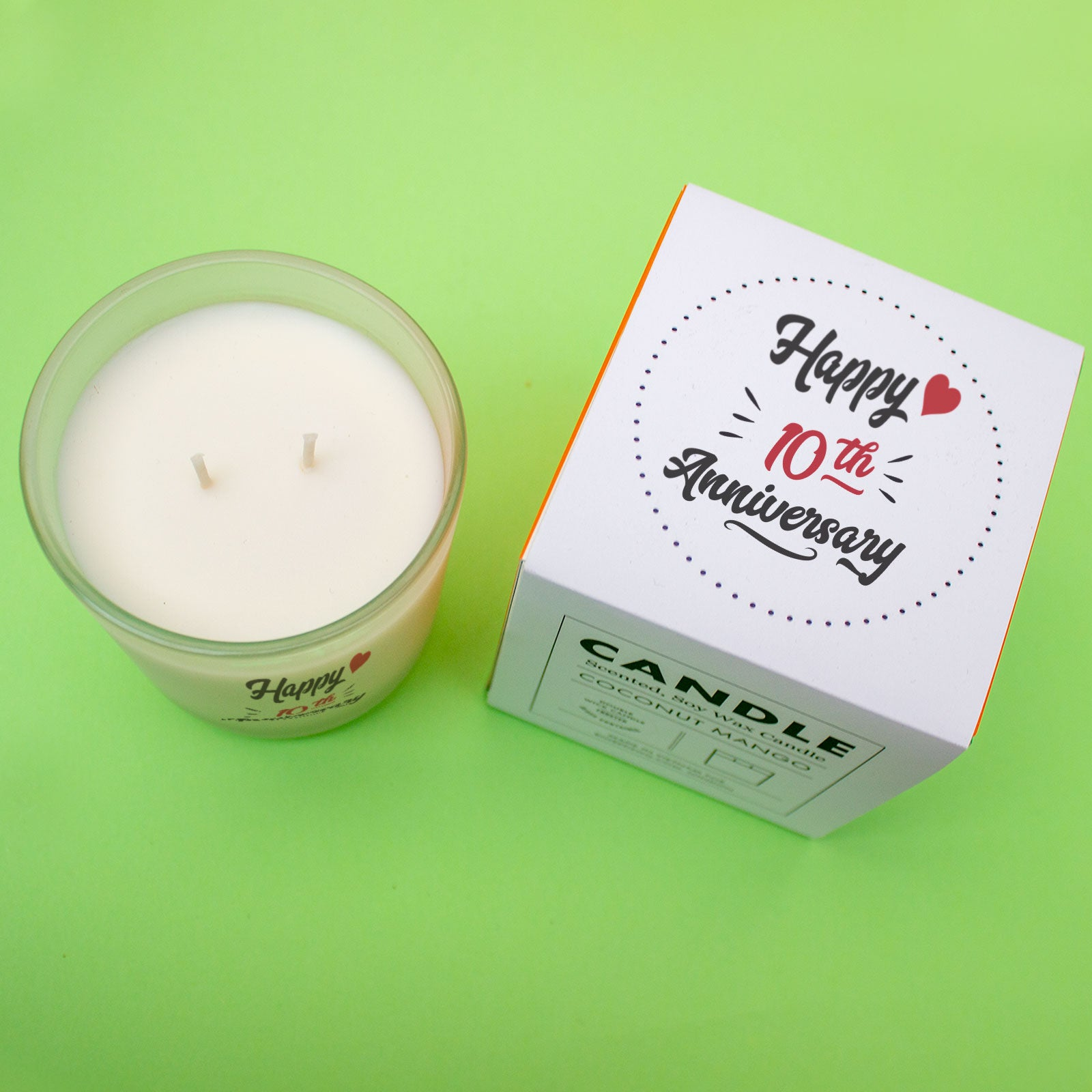 Happy Anniversary Candle - Custom Year