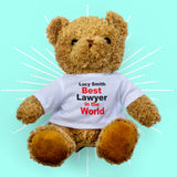 Best In The World Personalised Bear