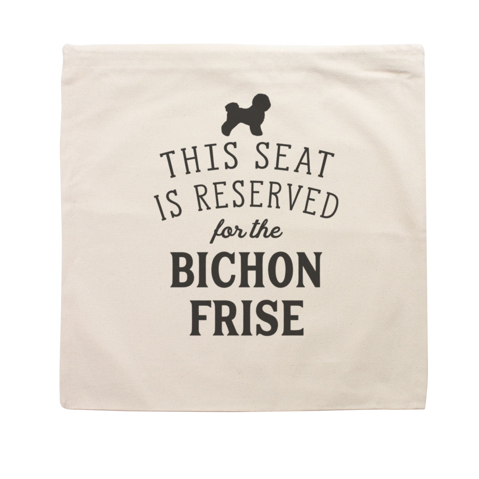 Reserved for the Bichon Frise Dog Cushion Cover