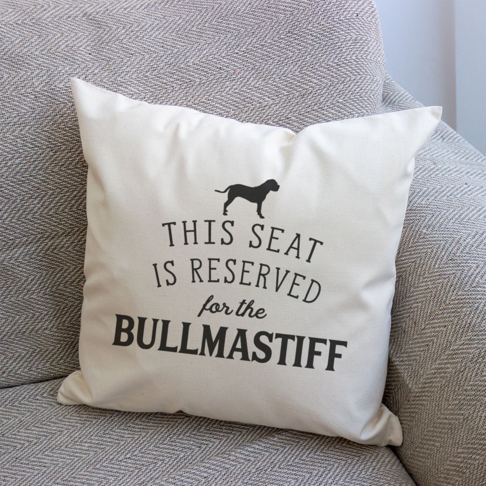Reserved for the Bullmastiff Cushion Cover