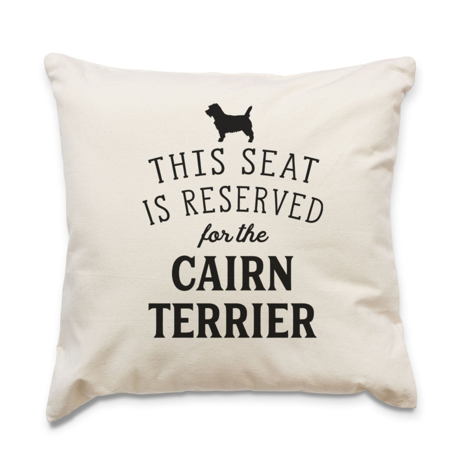 Reserved for the Cairn Terrier Cushion Cover
