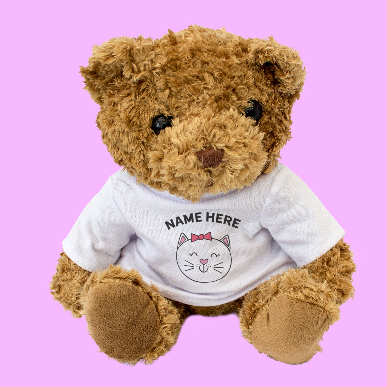 Teddy Bear Personalised Name - Cute Cat