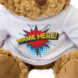 Teddy Bear Personalised Name - Comic Book Design