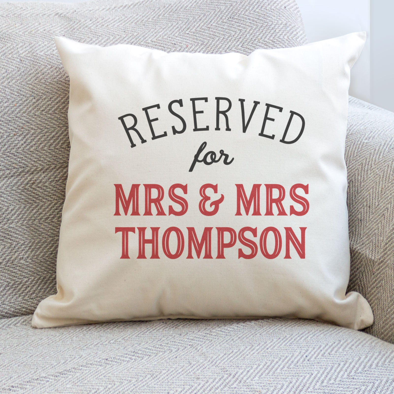 Personalised Name Cushion Cover